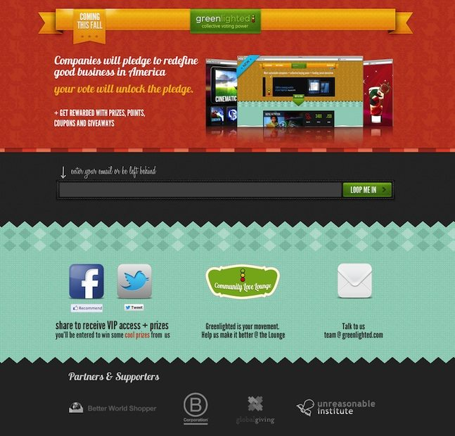 The best landing pages 2013