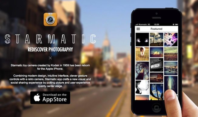 STARMATIC app landing page