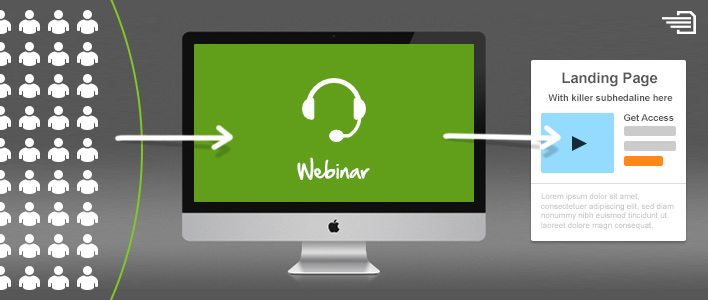 landing pages for webinars