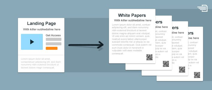 landing pages for white papers
