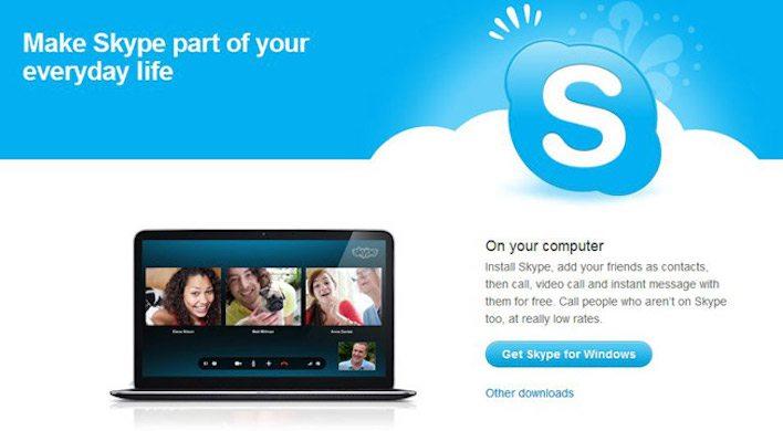 skype landing page