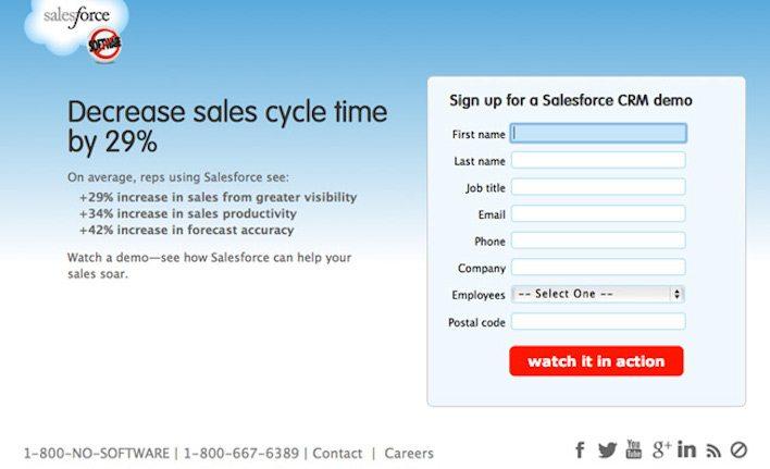 salesforce-landing-page