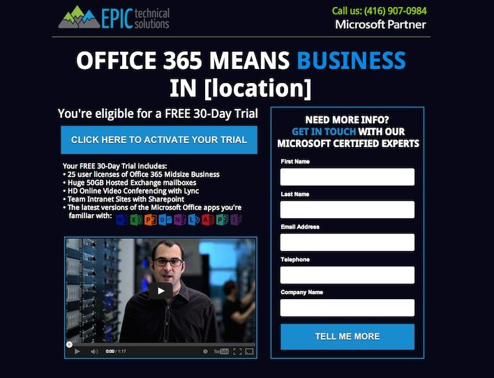 Free Trial of Office 365 for Toronto Small Business