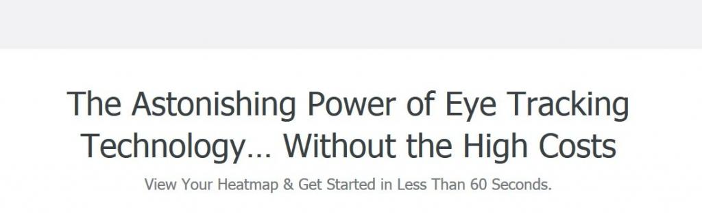 Crazy Egg headline example