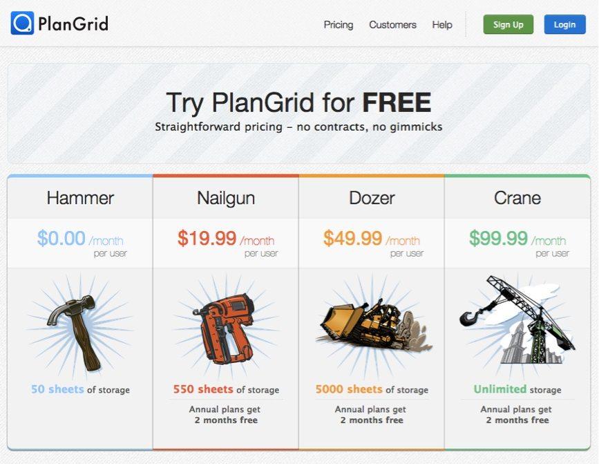 PlanGrid-pricing-page