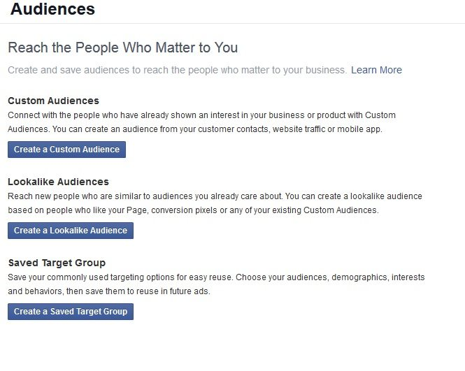 facebook audiences