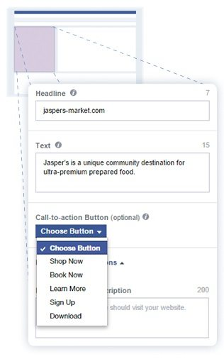 facebook cta button copy