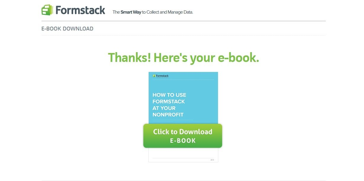 formstack thank you page