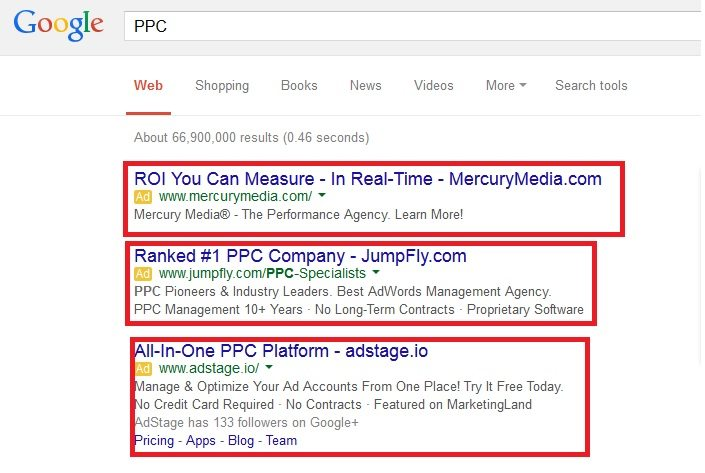 PPC ad results