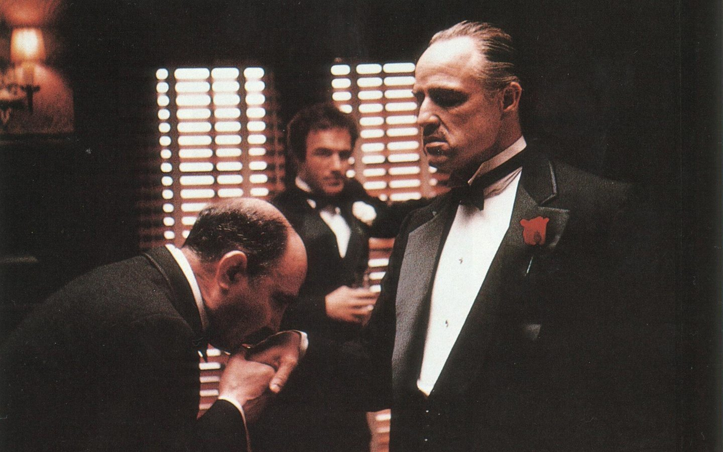 A picture that shows how the movie The Godfather can explain the difference between b2b and b2c landing pages.