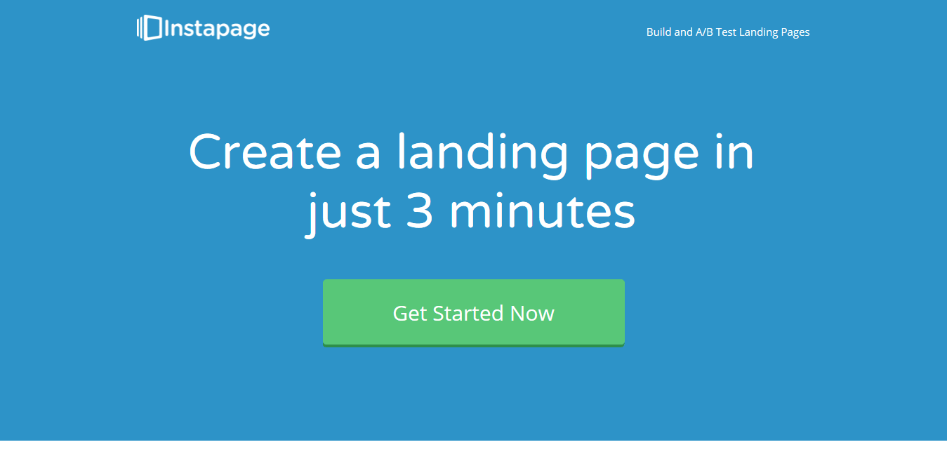 Instapage shows how to use animated gifs and graphics to demonstrate how the product works.