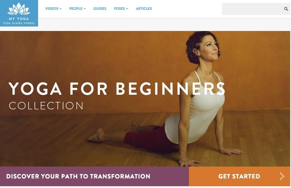 This picture shows a well-designed yoga landing page.