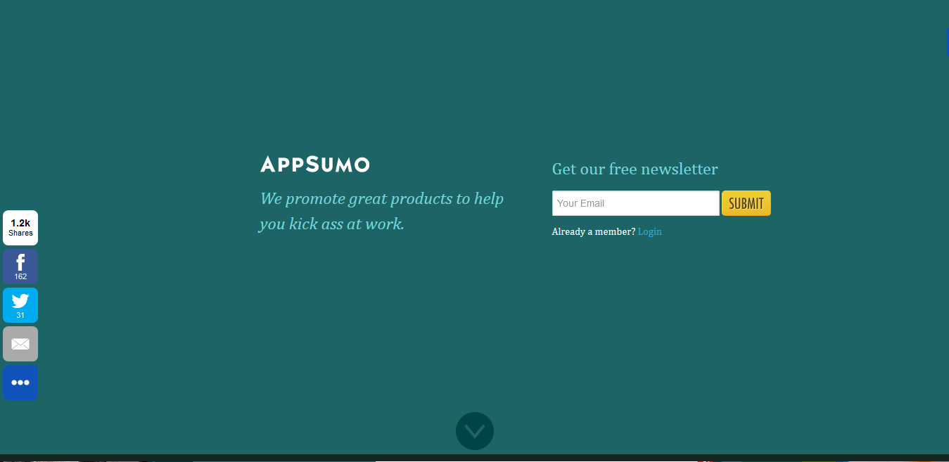 Sumo Me is a great example of a high converting squeeze page.