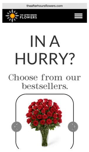 This picture shows how a flower shop uses message match with its online ads to generate landing page traffic and ultimately sales.