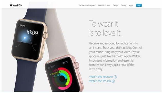 """This picture shows how the Apple Watch uses the mobile PPC trend """"Internet of Things"""" to generate more sales."""