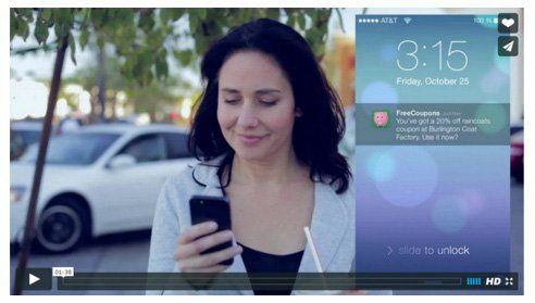 This video shows how retail stores can generate sales by syncing their store app with smartphones.