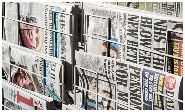 """This picture shows how """"the fold"""" became a common term with landing pages, derived from the newspaper industry."""