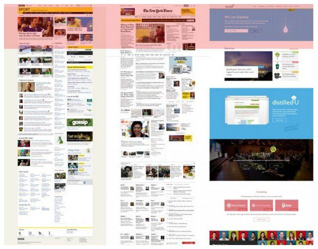 """This picture defines """"below the fold"""" in relation to landing pages and newspapers."""
