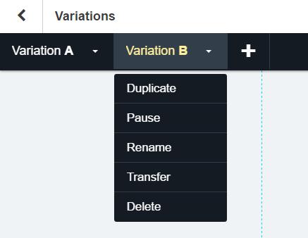 Create Landing Page Variation