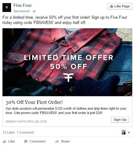 This picture shows how a signup CTA can increase your Facebook ROI.