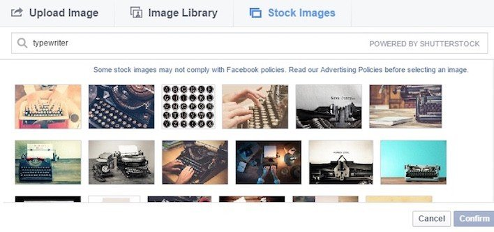 This picture shows how to use Shutterstock's image database to increase your Facebook ROI.