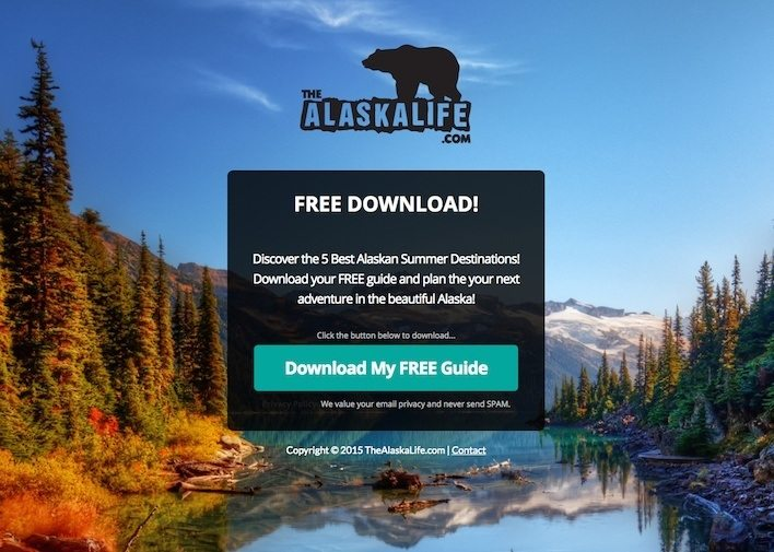 This picture shows how Alaska Life uses an authority trigger to increase conversions.