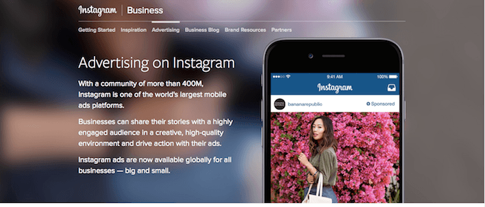 This picture shows how Instagram introduced ads to marketers allowing them to increase sales.