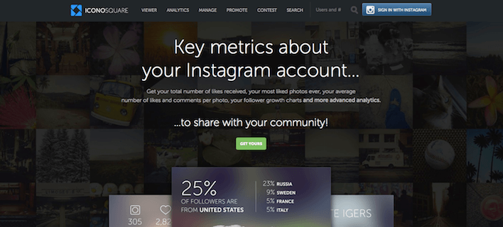 This picture shows how Iconosquare can help marketers track and measure the effectiveness of their Instagram ads.