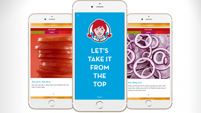 This picture shows how Wendy's restaurant uses Facebook Canvas ads to generate more brand awareness and sales.