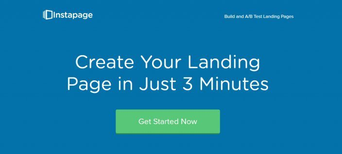 this picture shows the number headline Instapage uses on its landing page to showcase their UVP