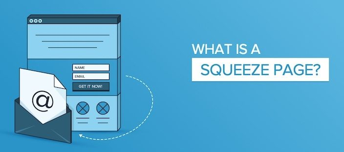 This picture explains what a squeeze page is using a visual example.