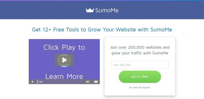 this picture shows the action headline SumoMe uses on its landing page