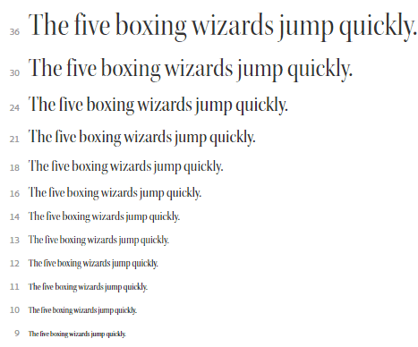 This picture shows marketers how to preview font size in Adobe Typekit.