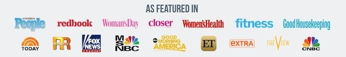This picture shows marketers how Jenny Craig uses authority badges on its landing page to increase trust and conversions.