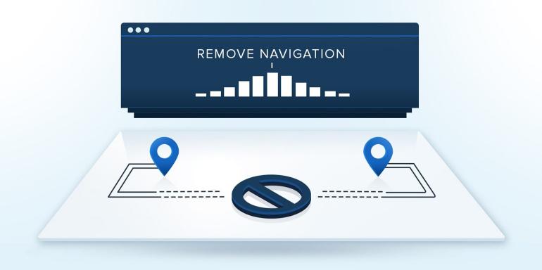 remove landing page navigation 2018