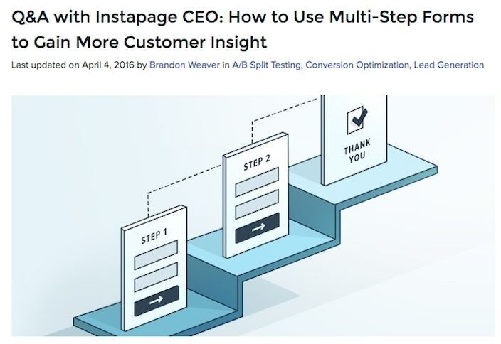 This picture shows marketers a Q&A session with Instapage's CEO Tyson Quick on how to use multi-step forms.