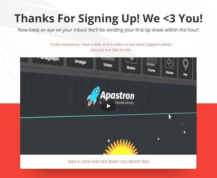 This picture shows marketers how you can A/B test a thank you page headline to increase engagement.