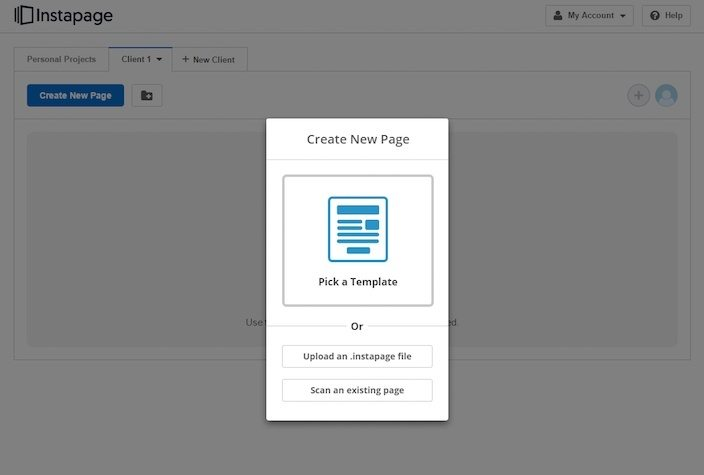 This picture shows marketers how to create a new than you page with Instapage landing page software.