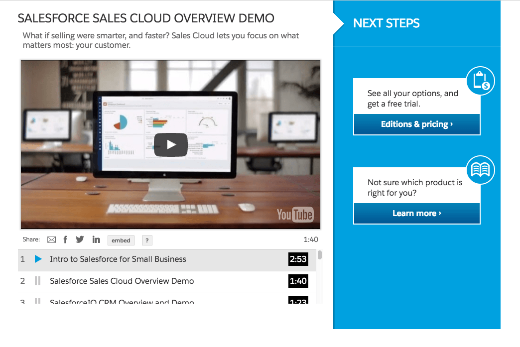 Salesforce Landing Page Example 2