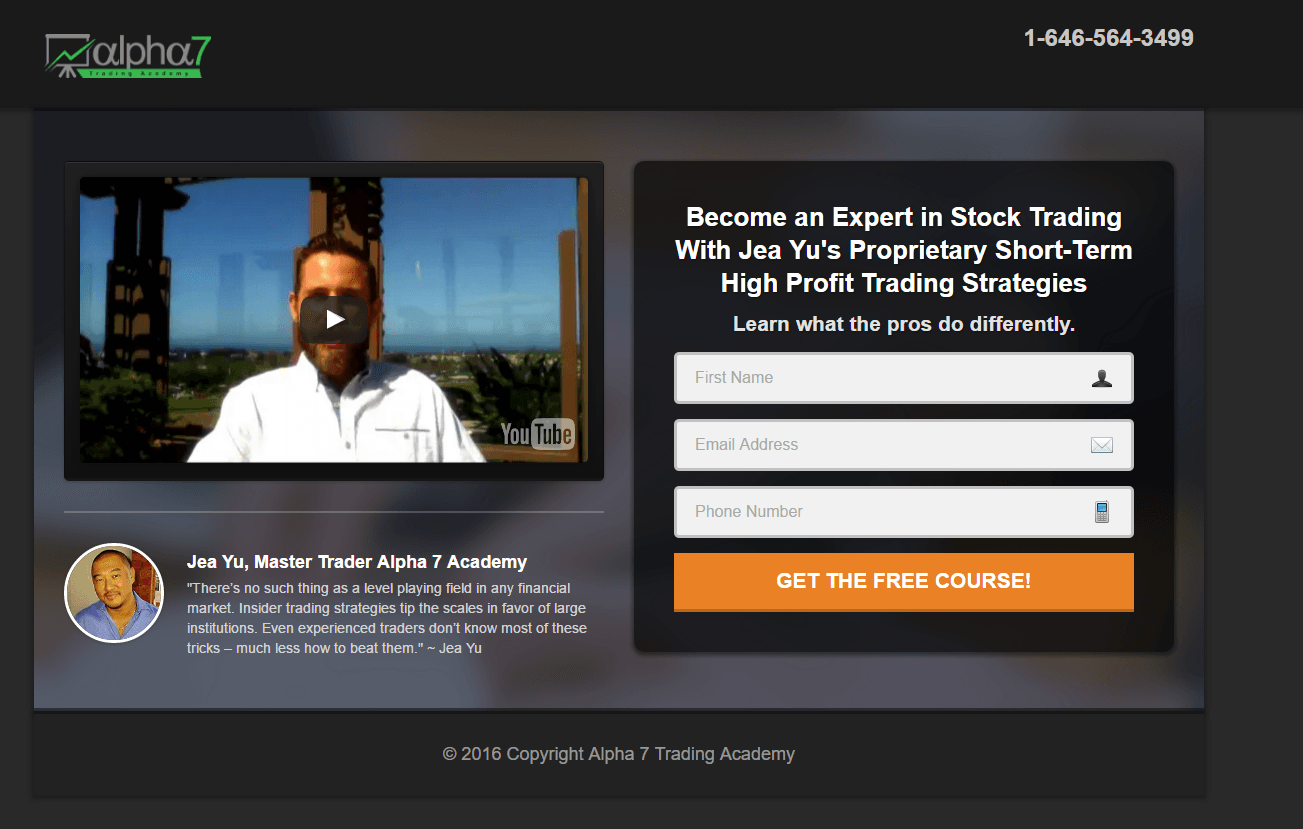 This picture shows marketers how stock traders can use landing pages to generate leads and increase sales.