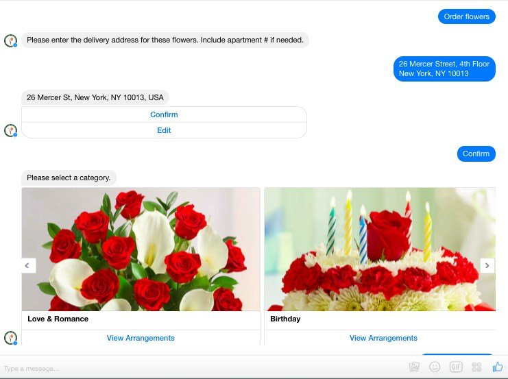 This picture shows marketers how 1-800-Flowers uses a Facebook Messenger bot to increase engagement and sales.