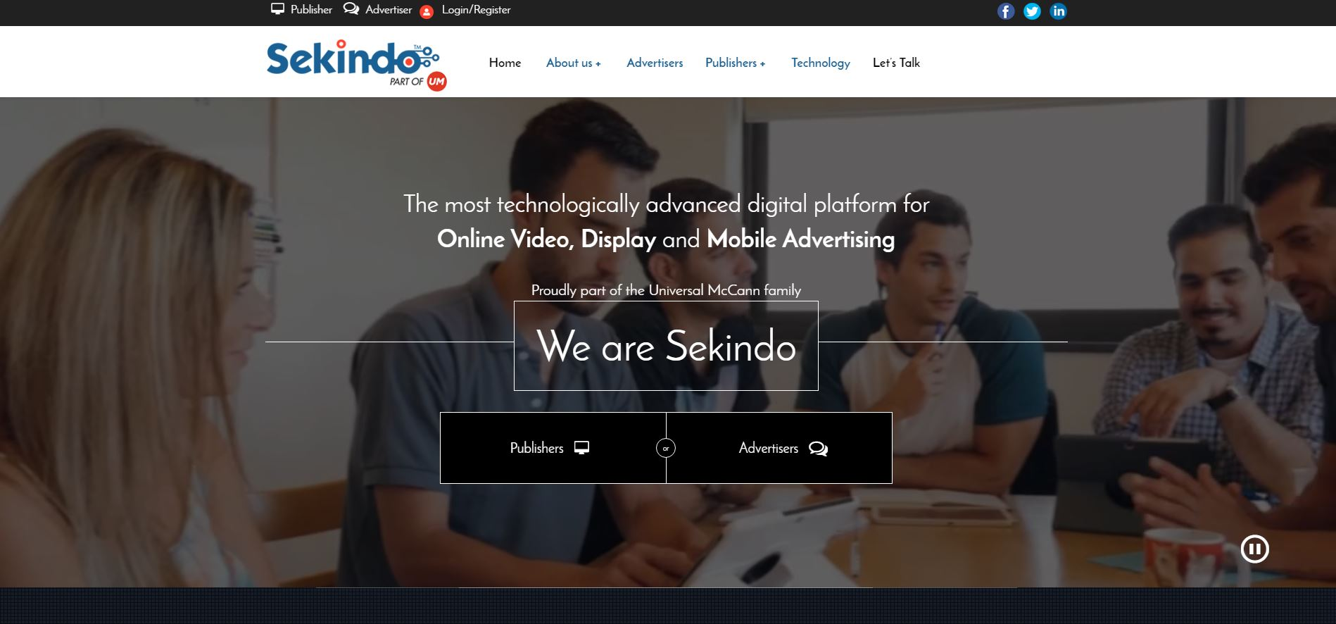 This picture shows marketers how Sekindo uses young, upbeat staff pictures to create an emotional connection with visitors to generate more leads.