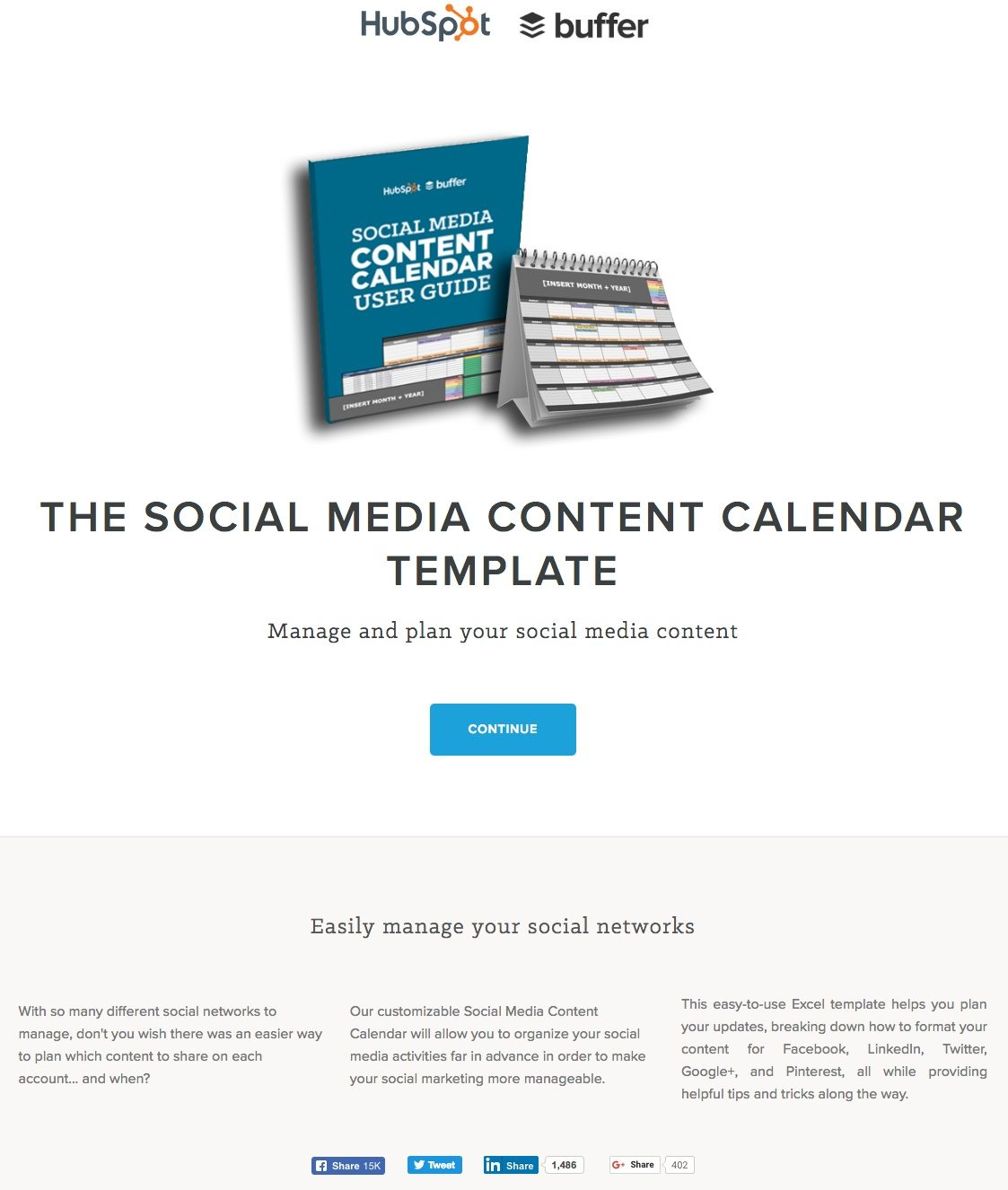 15 ways hubspot uses landing pages to generate leads and drive sales this hubspot landing page shows marketers how they use a social media content calendar template to pronofoot35fo Gallery