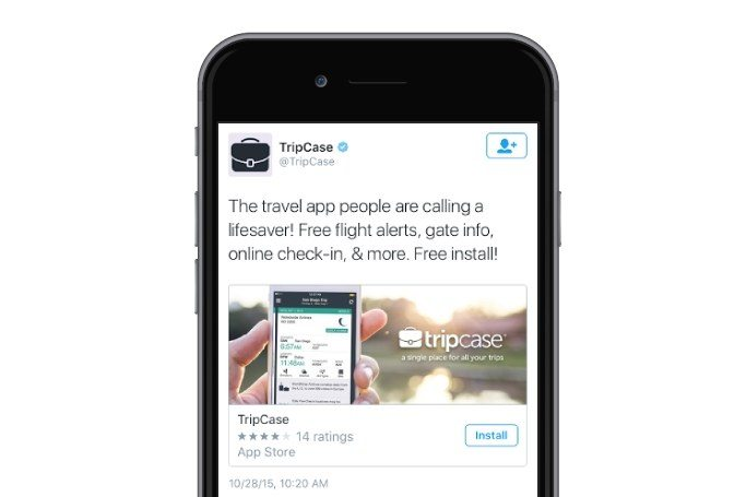 This picture shows marketers how to run a Twitter ad campaign using app installs and engagement.