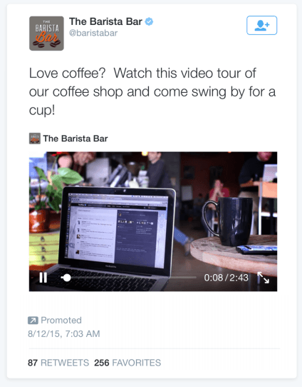 This picture shows marketers how to advertise on Twitter using promoted video ads.