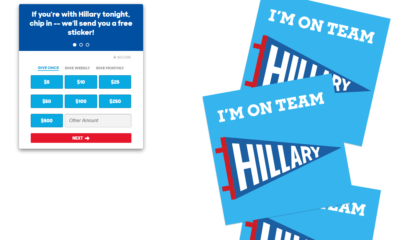 presidential-debate-message-match-landing-page
