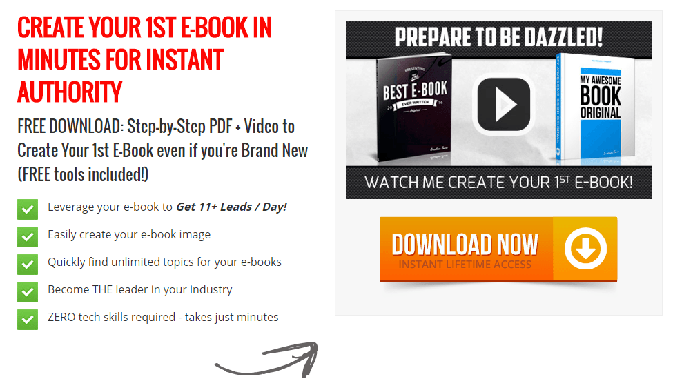 20 ebook landing page examples used by todays best brands this picture shows marketers how upward enterprises uses an ebook download to generate maximum leads and fandeluxe