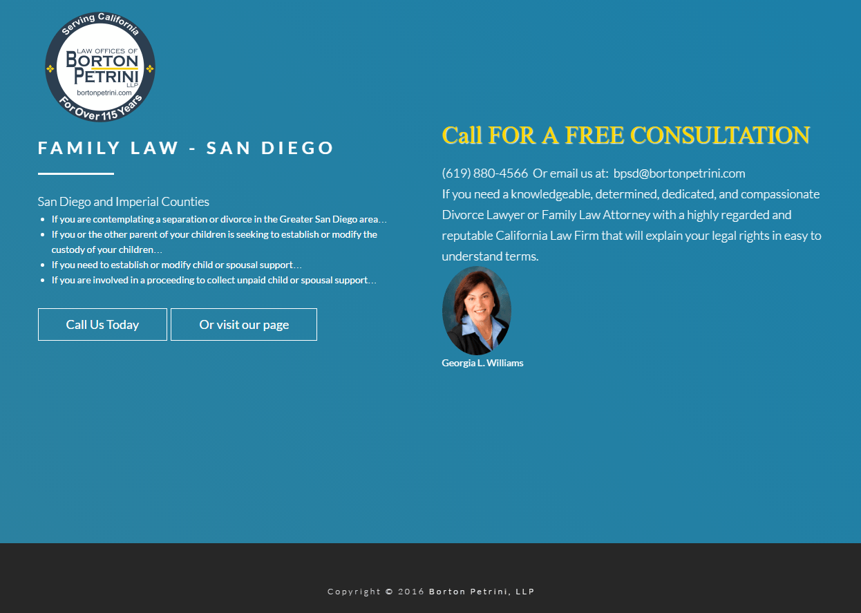 This picture shows family and divorce lawyers how to use legal landing pages to generate more leads.