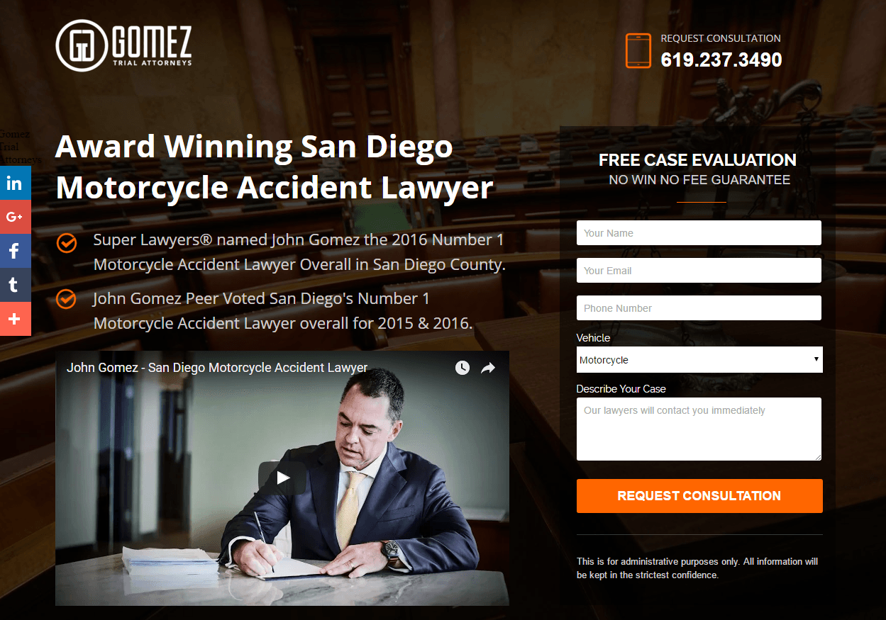 This picture shows accident lawyers can use legal landing pages to sign more clients and increase revenue.