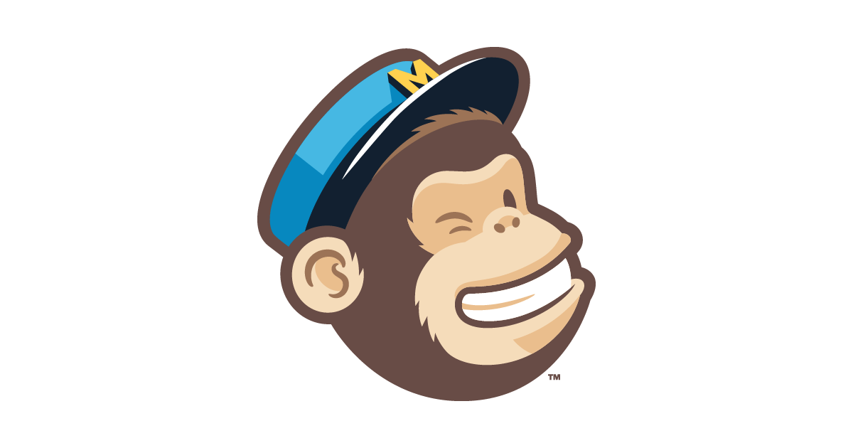 This picture shows how MailChimp uses their logo on landing pages to reinforce their brand and grow sales.